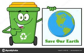 imagenes animadas sobre el reciclaje dibujos animados de bin de reciclaje verde lindo archivo imágenes