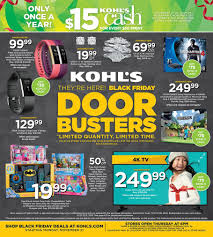 kohls black friday 2017 ad deals u0026 sales