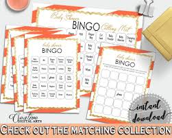 60 baby shower bingo cards game and empty gift bingo cards with