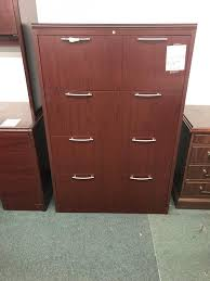 Mahogany Lateral File Cabinet Four Drawer Mahogany Lateral File Cabinet