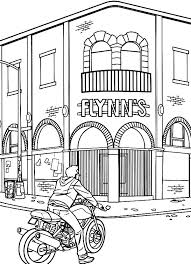 tron sam flynn visiting father office coloring pages