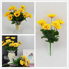 Fake Sunflowers Compare Prices On Fake Sunflowers For Wedding Online Shopping Buy