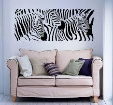 wall decals zebra animals jungle safari african childrens zoom