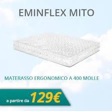 rete e materasso matrimoniale offerte materassi eminflex offerte sconti e promozioni