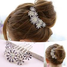 decorative hair combs new women beautiful decorate petal tuck hair comb flower