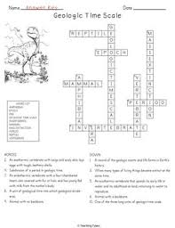 geologic time scale crossword puzzle by teaching tykes tpt