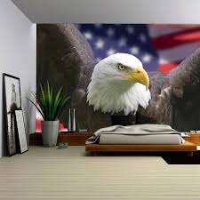 Bald Eagle And American Flag Wall26 Com Art Prints Framed Art Canvas Prints Greeting