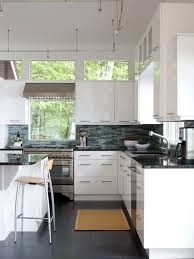 kitchen window behind range houzz
