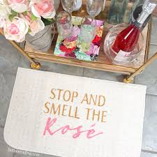 funny door stops stop and smell the rosé wine decorative kitchen mat funny