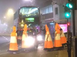 Halloween Scare Pranks 2015 by Kingston Police Called After Men Dressed As Traffic Cones Block