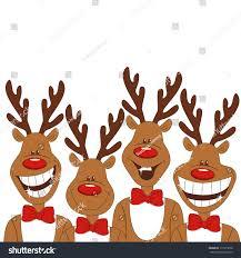 christmas illustration cartoon reindeer vector stock vector