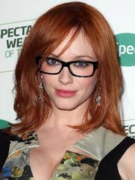 christina hendricks glasses hairstyle 4 short hairstyles for