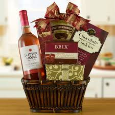 wine and chocolate gift baskets california classic zinfandel wine chocolate gift basket an