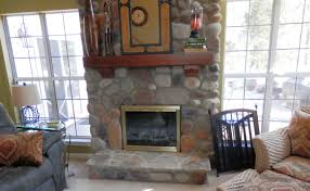 stone fireplace design charlotte desert rust river rock youtube