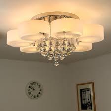 Lampen Wohnzimmer Led Natsen 49w Kristall Deckenleuchte 7 Flammig Led E27 Warmweiß