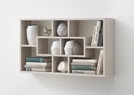 étagère derrière canapé etagère murale à compartiments couleur bois ou blanc moderne