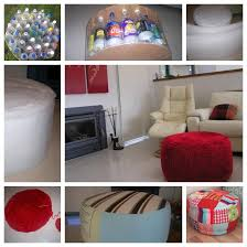 Plastic Ottoman Wonderful Diy Ottoman Out Of Plastic Bottles