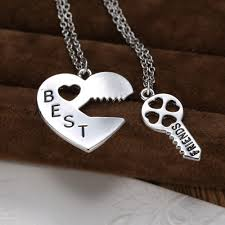 best friends puzzle necklace images Lock and key pendant handstamped best friends necklace for jpg