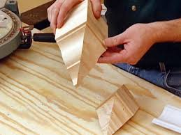 How To Cut Stair Trim Molding by How To Install Crown Molding Hgtv