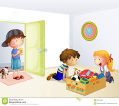 clipart kids cleaning up collection