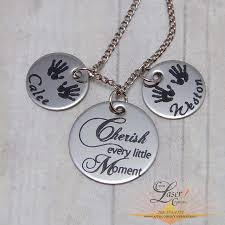 Personalized Family Necklace Personalized Mothers Necklace Cherish Moments With Two Name Circles