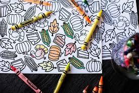 printable thanksgiving coloring placemat u2014 boys