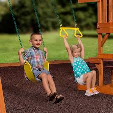 backyard discovery tucson cedar wooden swing set walmart home