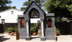 build a cemetery mausoleum facade for halloween youtube