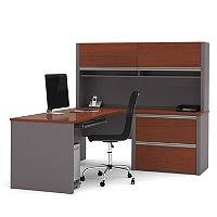 bestar connexion officepro 93000 2 drawer u shaped bow front desk