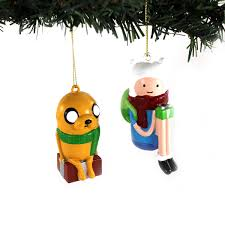 adventure time kurt adler blow mold ornament set