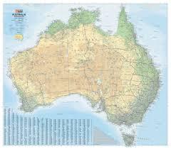 Australian Outback Map Australia Road U0026 Terrain Map Hema