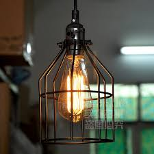Retro Pendant Lights Vintage Wrought Iron Cage Pendant Lights Industrial Pendant Lamps