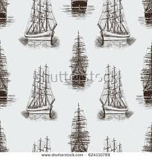 pattern sketches sailing ships stock vector 624110789 shutterstock
