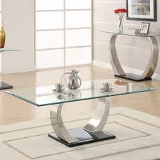 Glasses Coffee Table Modern Glass Coffee Table In Minimalis House With Stainless