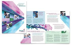 technical brochure template high tech manufacturing brochure template design