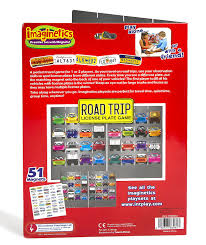 License Plate Map Of The United States by Amazon Com Imaginetics Road Trip License Plate Game U2013 Includes 51