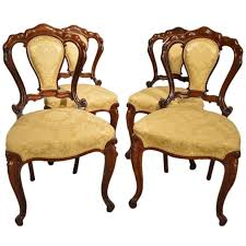 Victorian Dining Chairs Stunning Set Of Four Rosewood Victorian Period Antique Dining