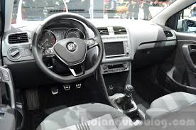 volkswagen polo interior vw polo allstar interior at the 2016 geneva motor show indian