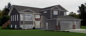 bi level floor plans with attached garage bi level garage additions modified bi level with 3 car garage this