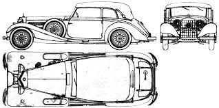 vintage cars drawings mercedes benz car blueprints die autozeichnungen les plans d