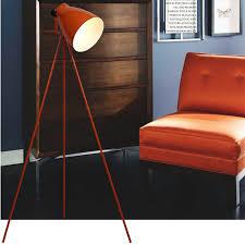 Orange Floor Lamp Modern Simple Orange Baked Metal Floor Lamp 10191 Free Ship