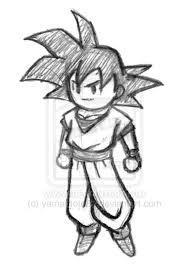 dragon ball z goku logo sketch coloring page