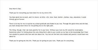thank you letter to parents u2013 9 free sample example format