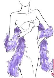 how to draw a feather boa i draw fashion