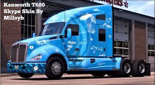 kenworth dealer kenworth t680 skype skin american truck simulator mod ats mod