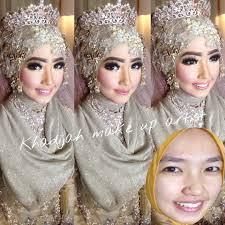 tutorial hijab syar i untuk pengantin budayakan baca caption sebelum bertanya yaa resepsi miss novelia