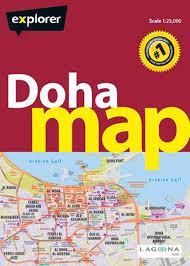 Doha Qatar Map Buy Doha U0026 Qatar Map Doh Map 2 City Map Book Online At Low