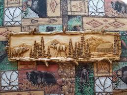 moose wood carving wood wall wall hanging moose decor