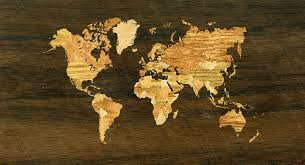 wooden world map digital by hakon soreide
