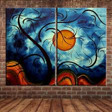 compare prices on wall painting murals tree online shopping buy modern wall art landscape abstract waves tree oil painting canvas wall mural picture for home decoration